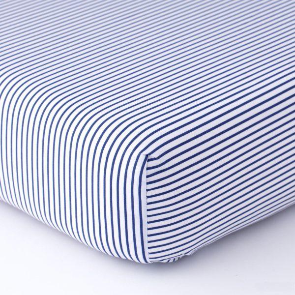 lenzuolo biancheria letto cotone percalle righe blu